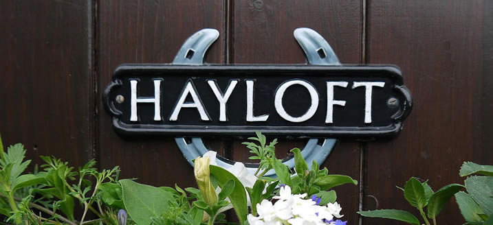 Hayloft Cottage Sign