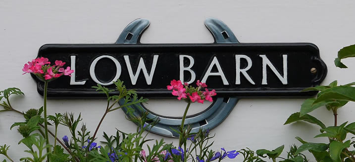 Low Barn Cottage Sign